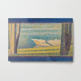 Georges Seurat - Moored Boats and Trees Metal Print