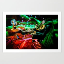 Mimicking Hiddleston's Chair Pose Art Print