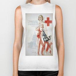 Vintage poster - American Red Cross Biker Tank