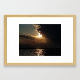 let there be light on the james river Framed Art Print