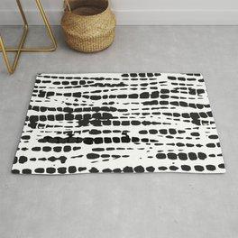 Black and White Tie Dye Rug