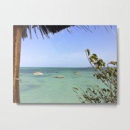 Zanzibar Boats Metal Print