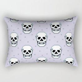 8bit skulls Rectangular Pillow