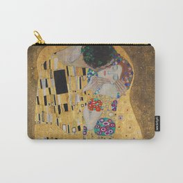 Gustav Klimt, The Kiss (Lovers), 1908 - Reproduction under Belvedere, Vienna, Creative Commons License CC BY-SA 4.0 Carry-All Pouch