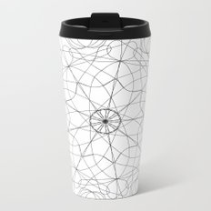 mandala art - floral Metal Travel Mug
