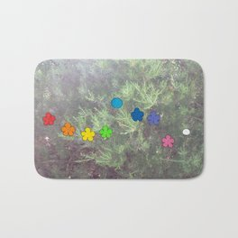 Flowers and a Blueberry Bath Mat