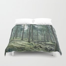 The pines forêt Duvet Cover