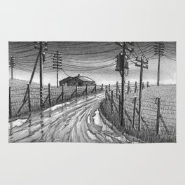 Muddy roads Rug