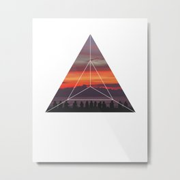Good Friends and Sunset - Geometric Photography Metal Print