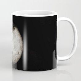 Battered Baseball in Black and White Coffee Mug