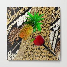 PPAP!  Pen Pineapple Apple Pen Metal Print