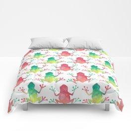 Watercolour Rainforest Frog Comforters