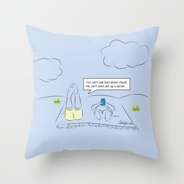 Dad Don't Know Cloud Throw Pillow