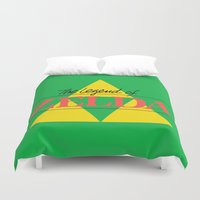 the legend of zelda Duvet Covers featuring The Legend of Zelda by Studio Momo╰༼ ಠ益ಠ ༽
