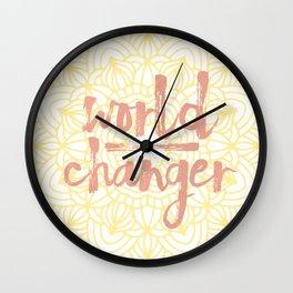 World Changer Yellow Mandala Wall Clock