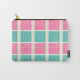 Blue and Pink Carry-All Pouch