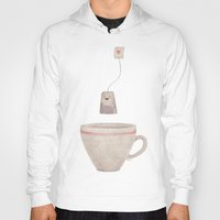 tea Hoodies featuring Tea by Lime