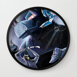 Battle of the Mechs Wall Clock