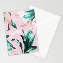 Tropical Floral on Pink. Odessa Calla Lily Stationery Cards