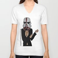 the office V-neck T-shirts featuring Office Trooper by #DoYouEvenStarWarsBro