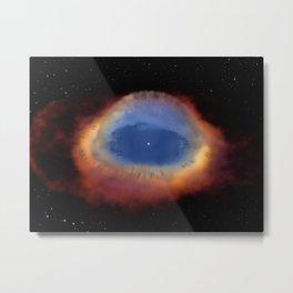 Hubble Space Telescope - Helix Nebula model (artist's impression) Metal Print