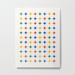 Bauhaus Stars Metal Print