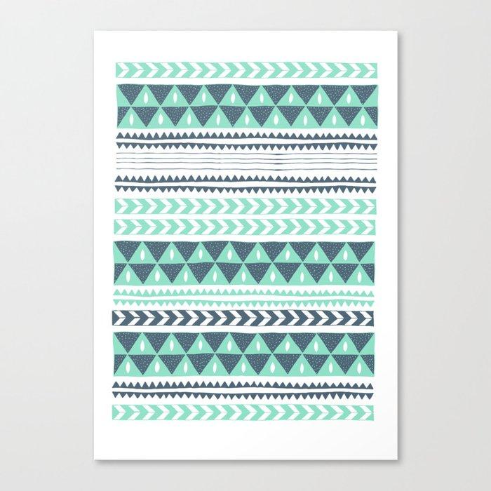 Winter Stripe Canvas Print
