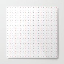 Mini Dots - Pink Grey White Pattern Metal Print