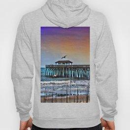 Myrtle Beach State Park Pier - Photo as Digital Paint Hoody