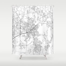 Minimal City Maps - Map Of Huntsville, Alabama, United States Shower Curtain