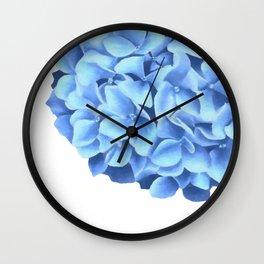 Hydrangea, Big blue flower Wall Clock