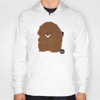 beaver Hoodies featuring Bushy Beaver by Lesbian Emojis