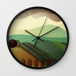 Sky of Birds. Wall Clock