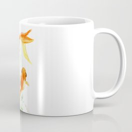 Goldfish, Feng Shui Asian Watercolor Coffee Mug