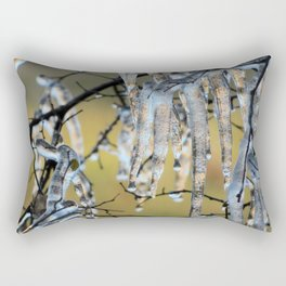 Icicles on a small tree Rectangular Pillow