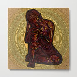 Looking For Buddha 27d Metal Print