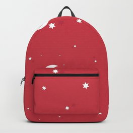 Happy New year and merry christmas wrapping paper red background with stars and moons pattern Backpack