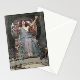 Circe Offering the Cup to Ulysses, John William Waterhouse Stationery Cards