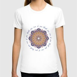 Mandala quote: you can if you can T-shirt