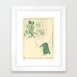 Green Thoughts Framed Art Print