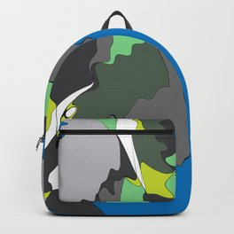 abstract liquid Backpack