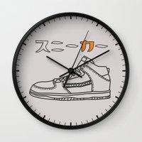sneaker Wall Clocks featuring Sneaker by YTRKMR