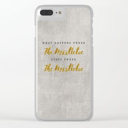 What Happens under The Mistletoe Clear iPhone Case