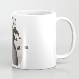 Mother and baby panda playing Coffee Mug