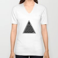 triangle V-neck T-shirts featuring Triangle by Emmanuelle Ly