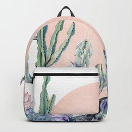 Desert Sun + Gemstones Bronze White Backpack