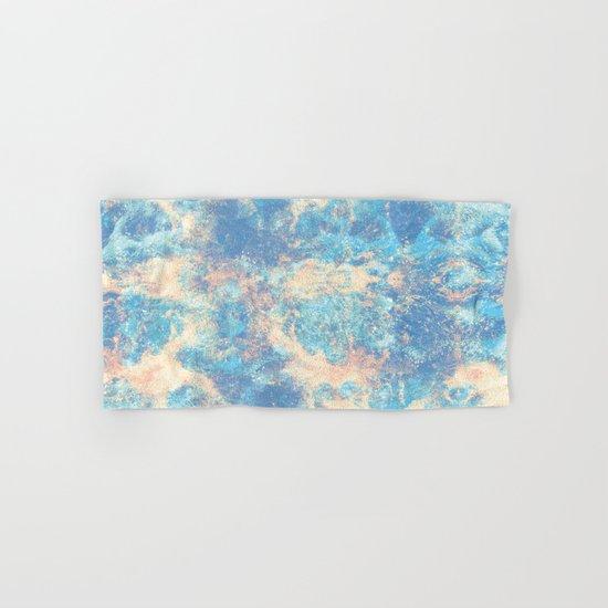 Blue Foam Hand & Bath Towel