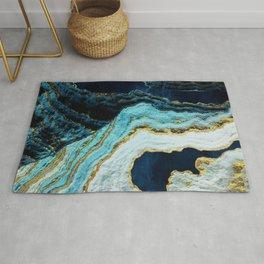 Aerial Ocean Abstract Rug