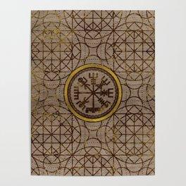 Vegvisir. The Magic Navigation Viking Compass Poster