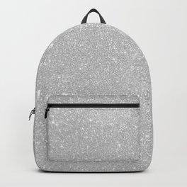 Pastel Grey Glitter Backpack
